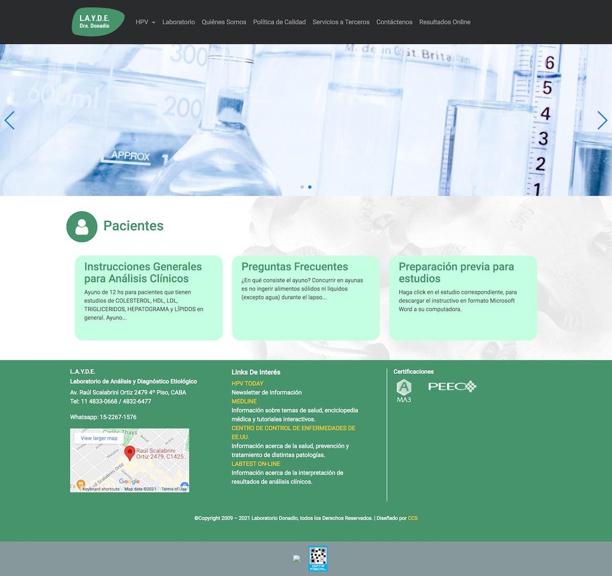 Diseño de Sitio Web | Martha Donadio