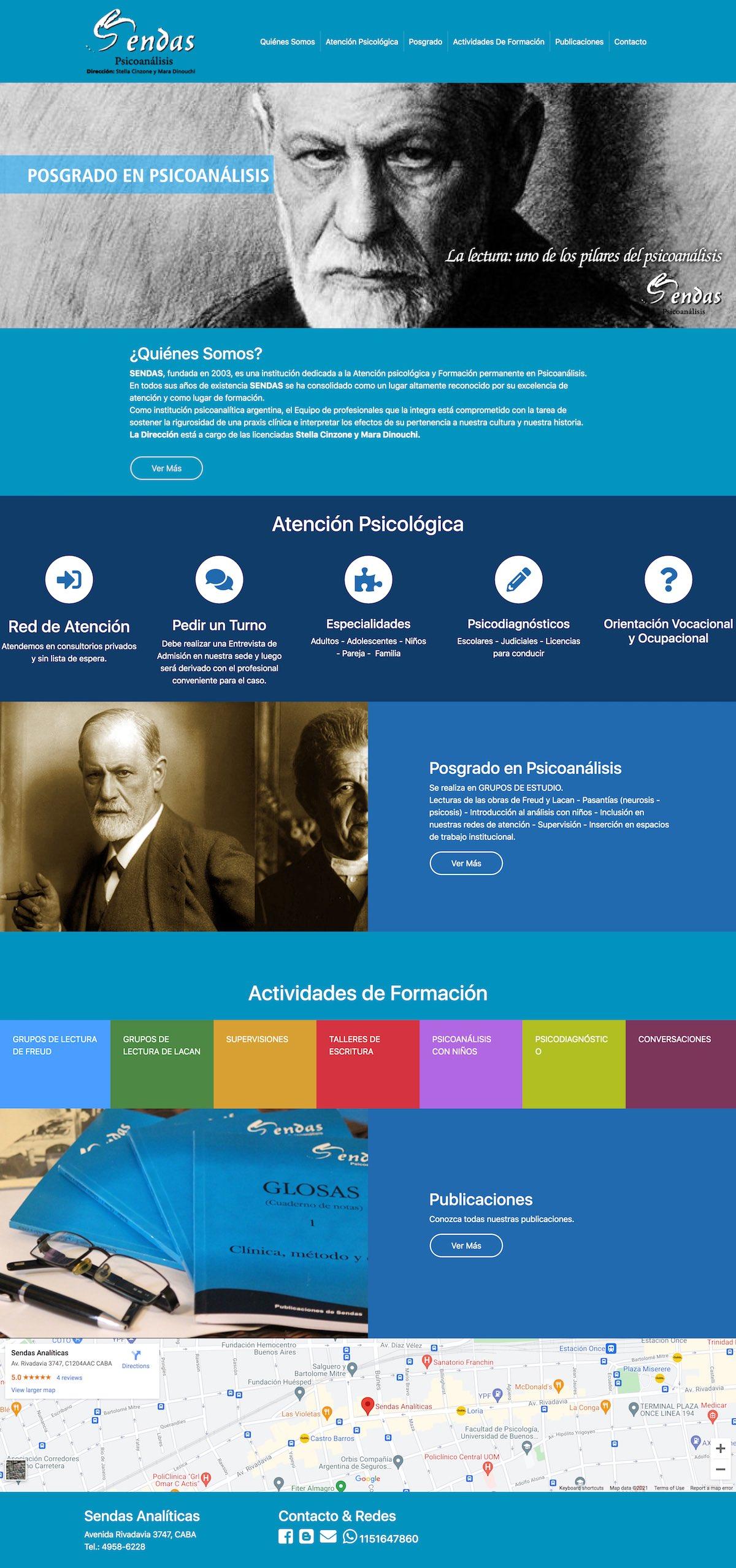 Diseño de Sitio Web | Sendas Analíticas