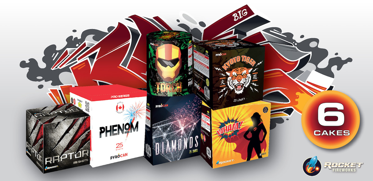 Diseño de Packaging | Rocket Fireworks