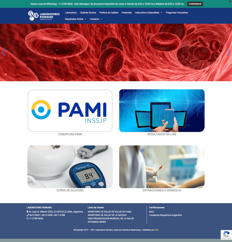 Diseño de Sitio Web | Dra. Carmen Romano