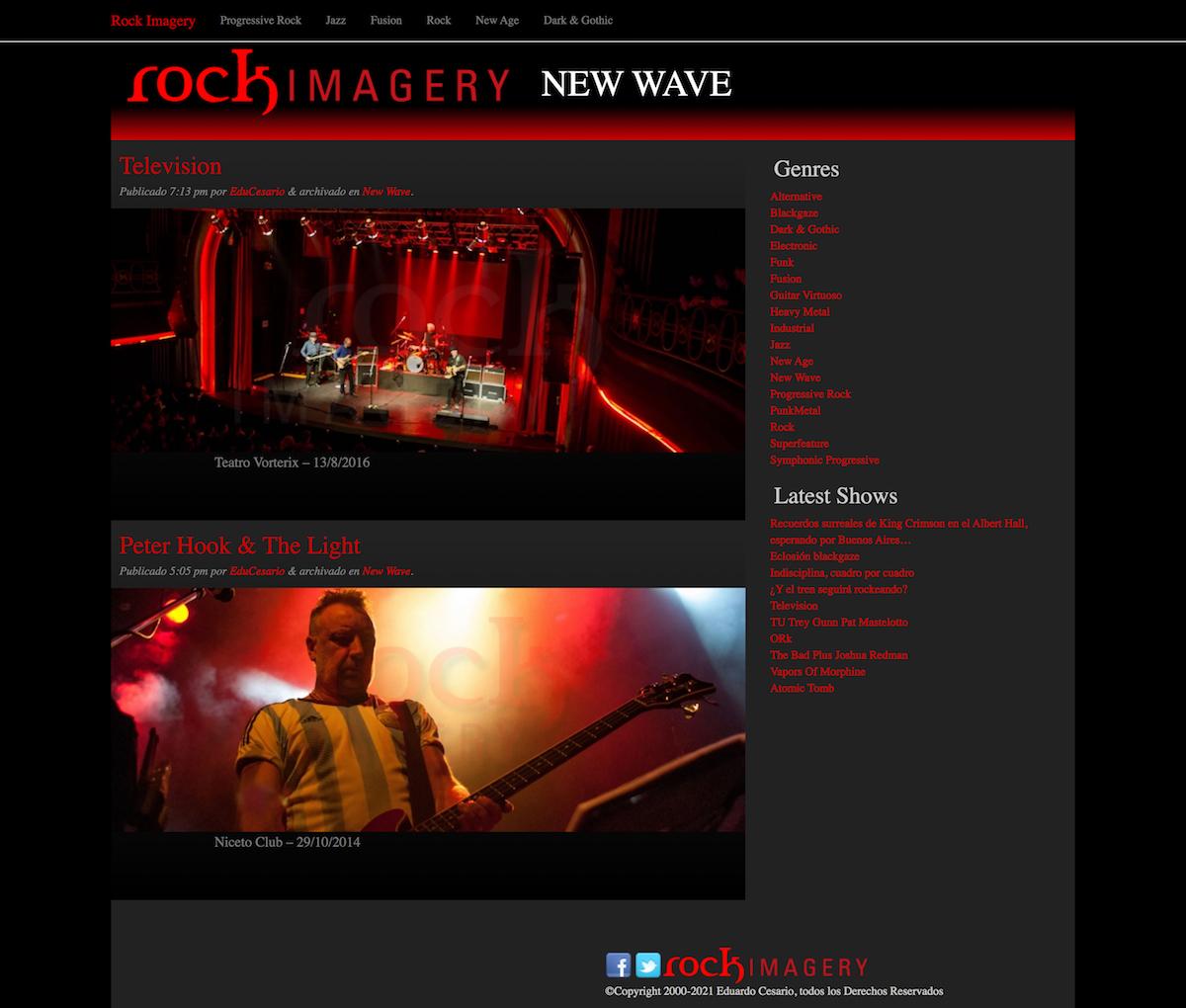Diseño de Sitio Web | RockImagery