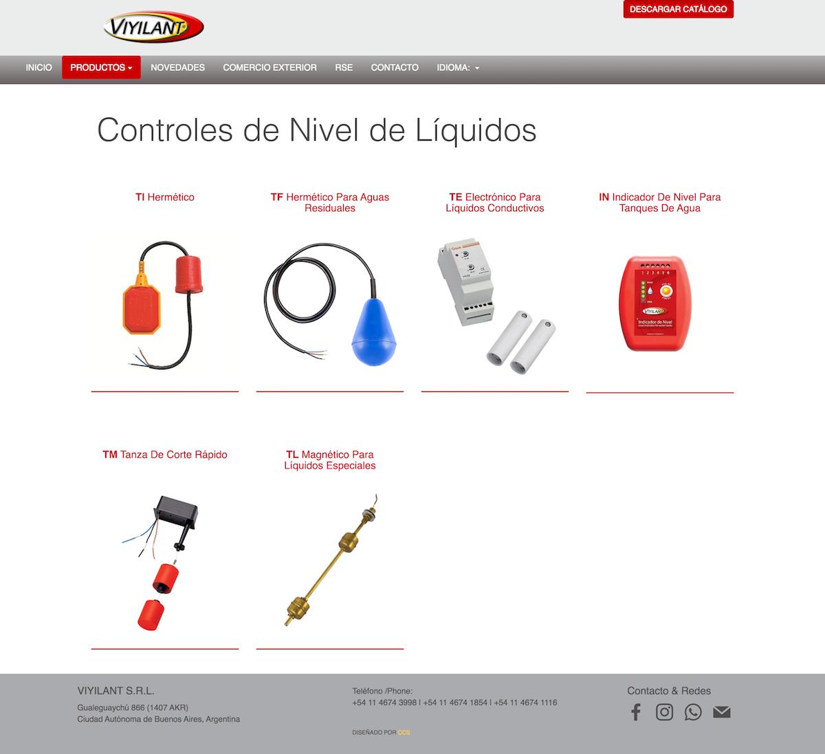 Diseño de Sitio Web | Viyilant SRL